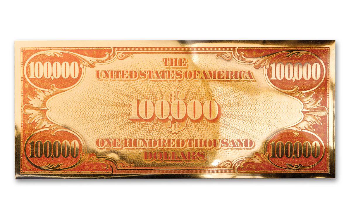 1934 100000 dollar bill