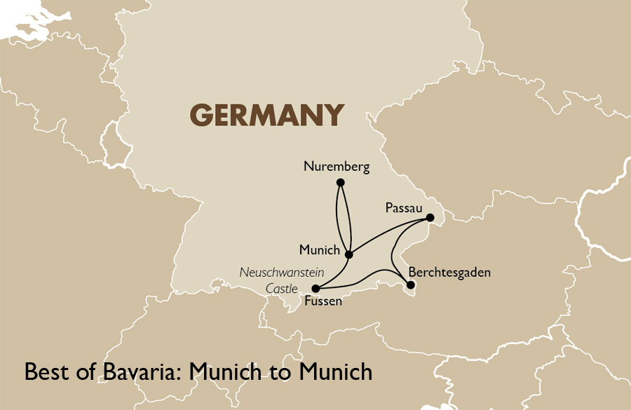 Best of Bavaria   Germany Vacations   Goway Travel Itinerary View Trip Map