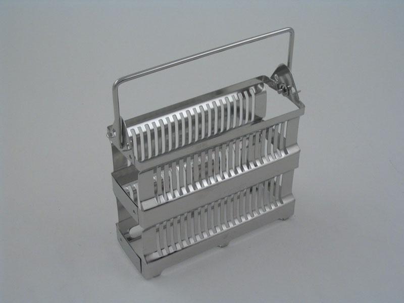 20 Place Metal Staining Rack Slides Vertical 1034