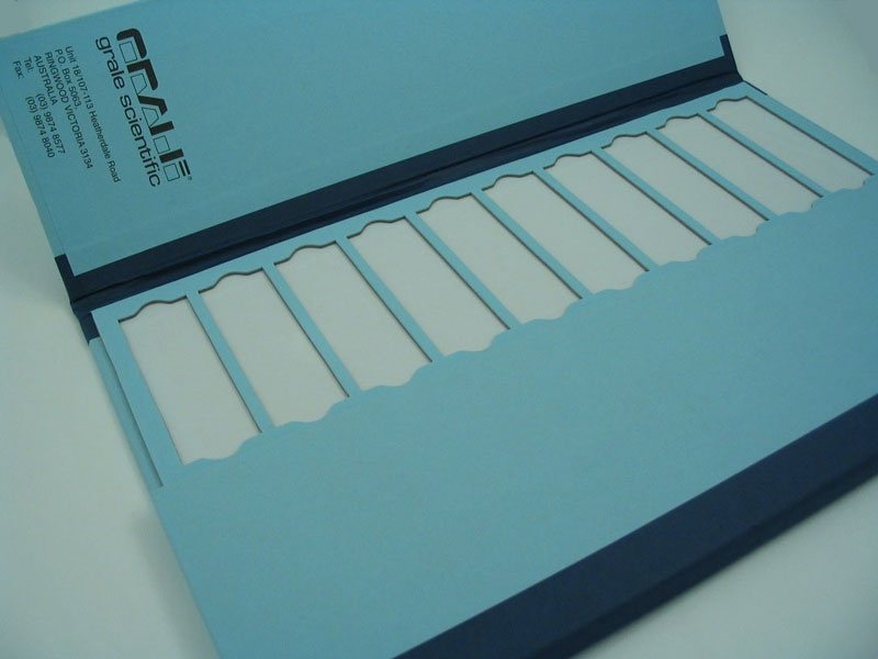 Slide Tray 20 Place Blue Cardboard With Lids St20bl