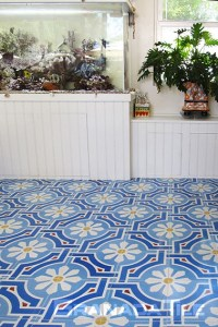 Office Tiles   Cement and Concrete Office Floor Tiles   Granada Tile     Castelo design for the Dog Ranch s office floor tiles