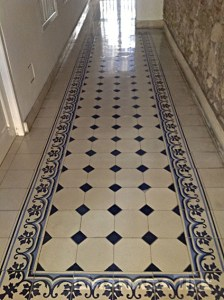 Granada Tile All Over The World   Cement and Concrete Tile Gallery     Elegant blue and white concrete cement tile