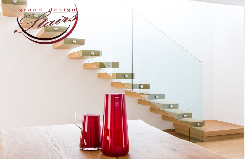 Los Angeles Stairs Cantilever Staircases Floating Stairs | Floating Stairs With Glass Railing | Duplex Balcony | Combination Glass | Glass Balustrade | Crystal Handrail | Innovative Glass