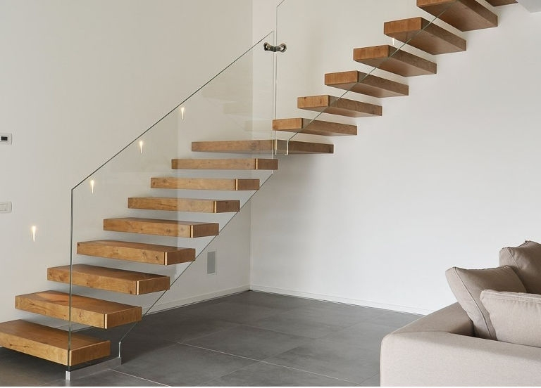 How Do Floating Staircases Work Modern Cantilever Stairs Systems   Steel And Timber Stairs   90 Degree External   Architectural   Modern   Contemporary   House
