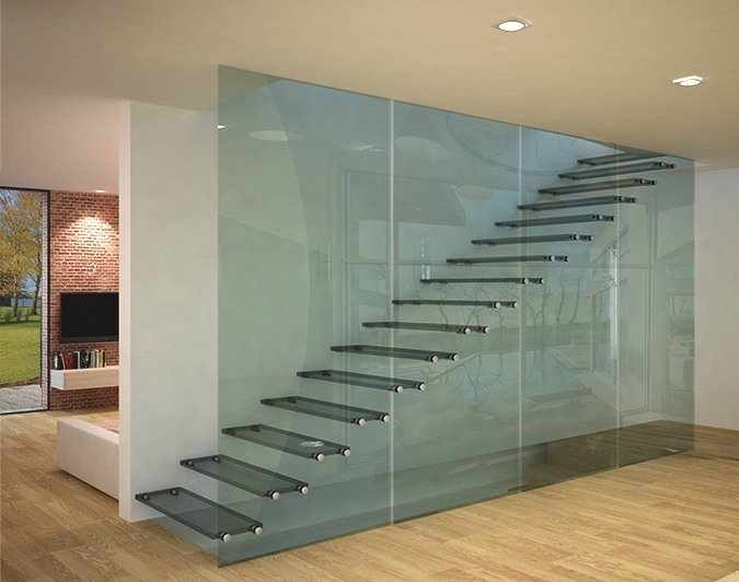 Glass Stairs Glass Steps Structural Glass Railings | Structural Steel Stair Design | Steel Construction | 4 Column Steel | Detailing | Steel Staircase | Small Space