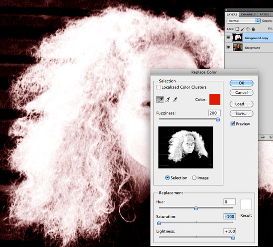 How to Cut Out Hair in Photoshop using Replace Color and Levels How to Cut Out Hair in Photoshop   Replace Color 02