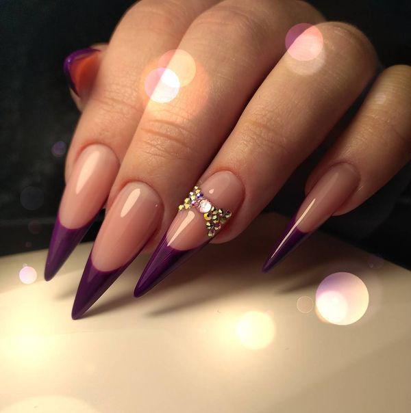 50 Creative Stiletto Nails Designs To Try Gravetics