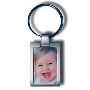 porte cle metal impression couleur de la photo personnalisee Porte cl     personnalis     photo couleur rectangle