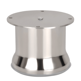 metal round furniture feet 75MM dia Stainless Steel 202