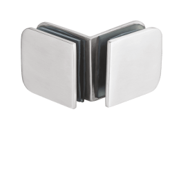 Glass to Glass 90 degree 3mm thick Glass Connector for low weight shower fittings