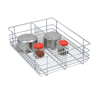 SS Kitchen Partition Baskets - Partition Baskets - Green Interio