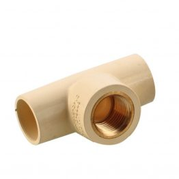 "C PVC 1 Inch Brass TEE Fittings, C PVC Brass Tee, C PVC TEE Brass Fittings 3/4"" - The Green Interio"