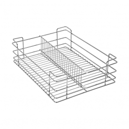 Partition Basket Chrome Plated, SS Steels Partition Baskets, Partition Wire Rack Manufacturers - The Green Interio