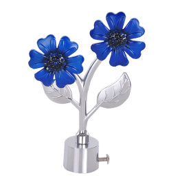 Flower Blue Curtain Finials for master bedroom @Green Interio