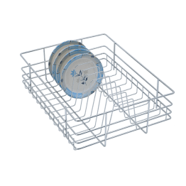 SS Plate Baskets, Plate Baskets, Plate Basket Stainless Steel SS 202 plate basket - Stainless Steel Plate Racks - Green Interio