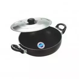 Amul Deep Kadhai with Lid- deep cooking pot - aluminium kadai with lid