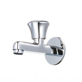 Beetel Collection Brass Bib Cock Long Body with wall flange - Green Interio
