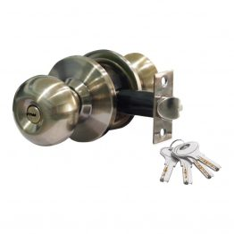Door Latch Cylindrical knob SS 304 - Cylindrical knob Entrance Lockset