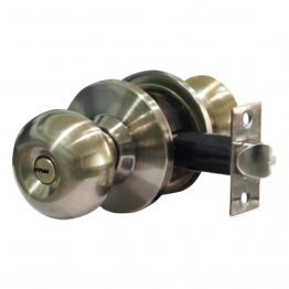 SS304 Cylindrical Door knob bathroom lockset for wooden flush door - The Green Interio