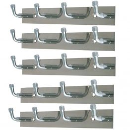 MULTIPLE ROBE HOOK RAIL STAINLESS STEEL