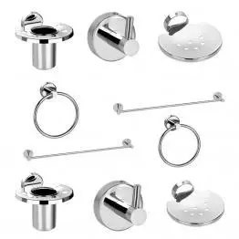 Chrome Plated Bathroom Accessories Set