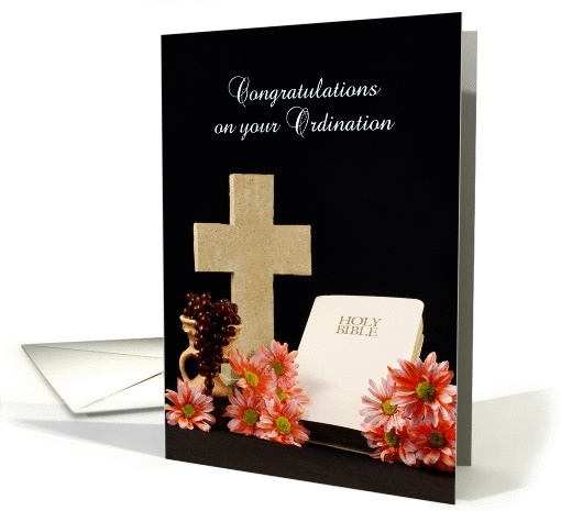 Congratulations On Your Ordination Greeting Card Cross