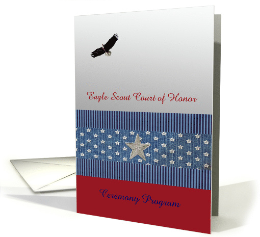 Flying Eagle Scout Court Of Honor Ceremony Program Custom