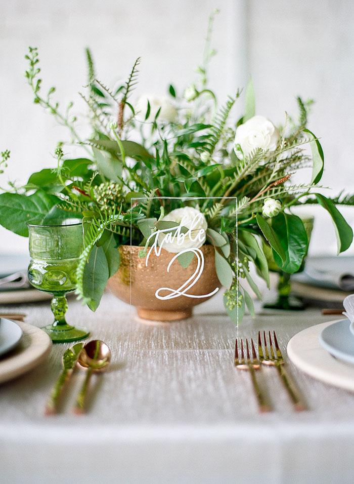 Modern Greenery Styled Shoot Best Wedding Blog
