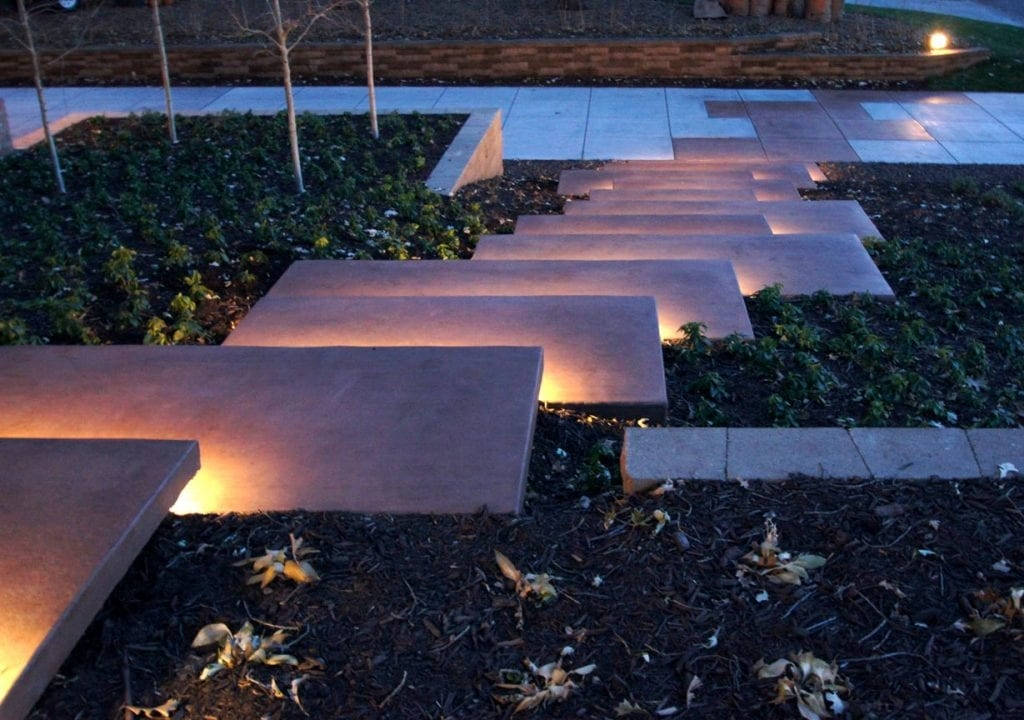 Mid Century Curb Appeal Ground One | Floating Concrete Steps Designs | Exterior | Landscape | House | Sidewalk | Cement