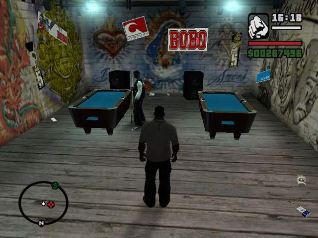 Mini Games   GTA SA   Grand Theft Auto  San Andreas   on Gta cz A popular game  pool is playable in each bar  You usually meet somebody  playing billiards  If you kill them  you ll get a billiard cue