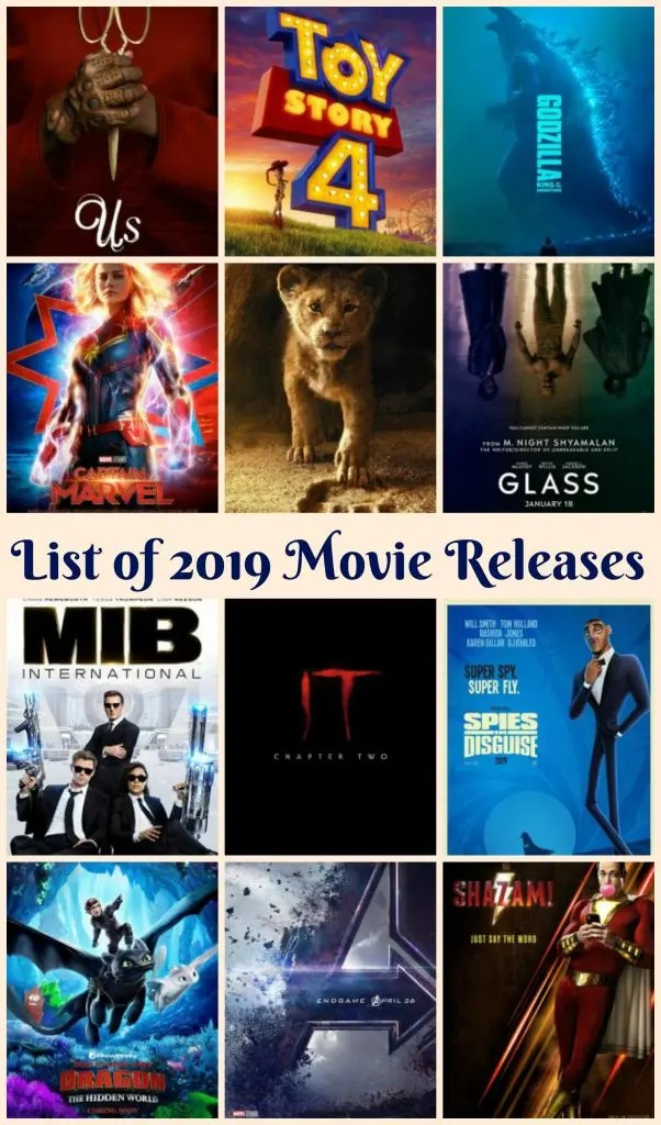 Full List Of 2019 Movie Releases & My Top 10 Most Anticipated