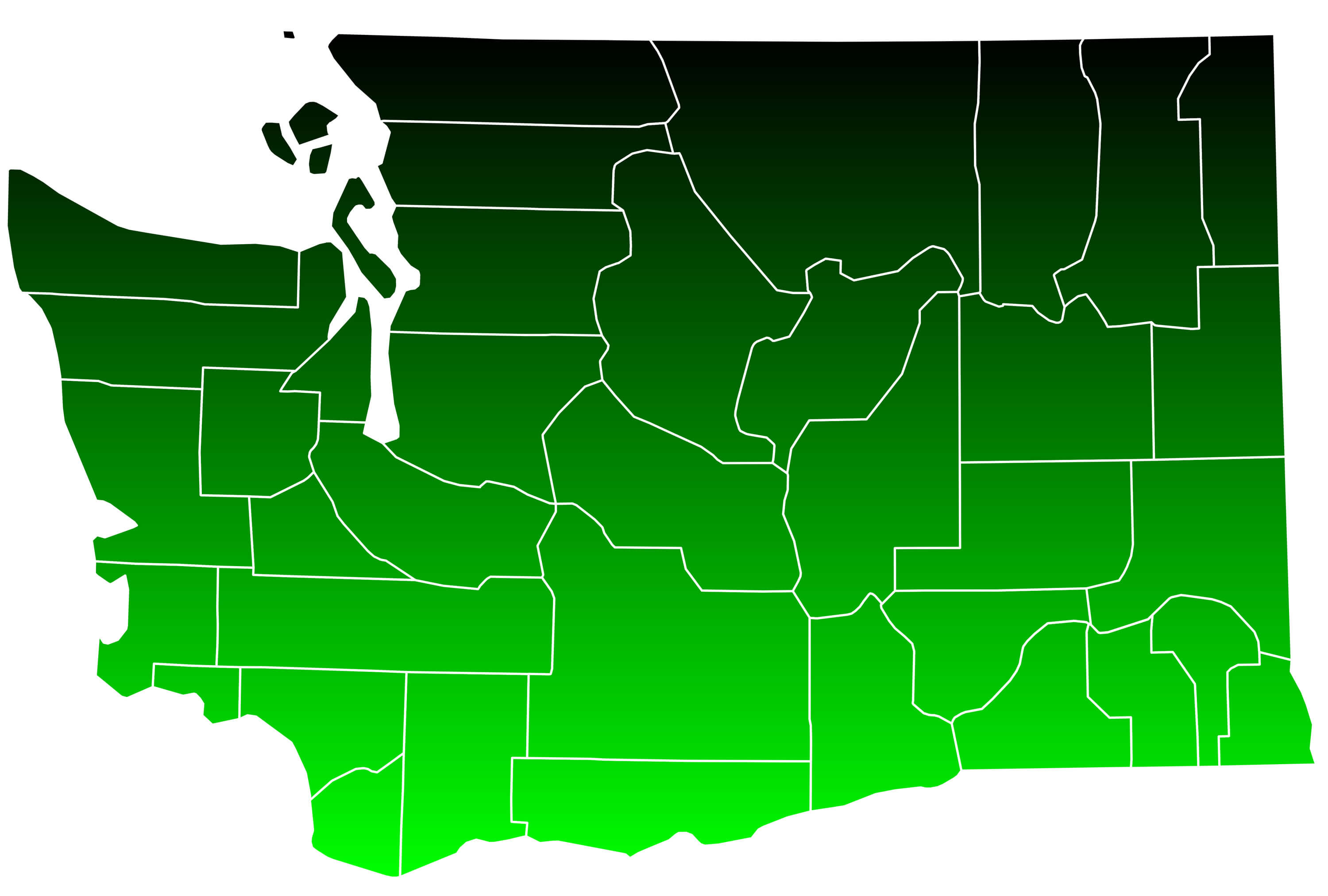 Map of Washington   Guide of the World Map of Washington State