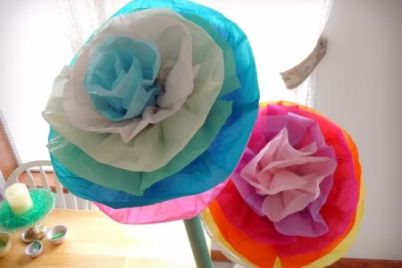 How to make flowers out of tissue paper and wire flower shop near a glue and water mixture to thin the glue slightly paint the entire flower with the thinned glue and let dry how to make tissue paper flowers youtube mightylinksfo