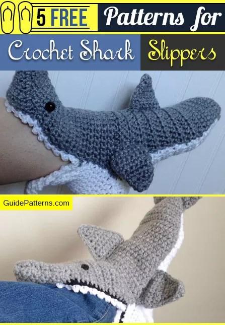 Shark Slippers Make Patterns Delectable Crochet Shark Slippers Pattern Free
