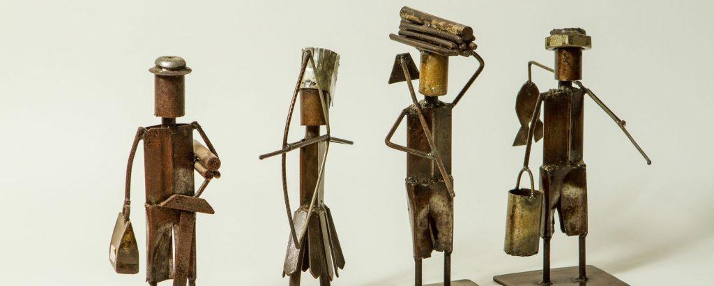 Bonecos de ferro   Artesanato alagoano
