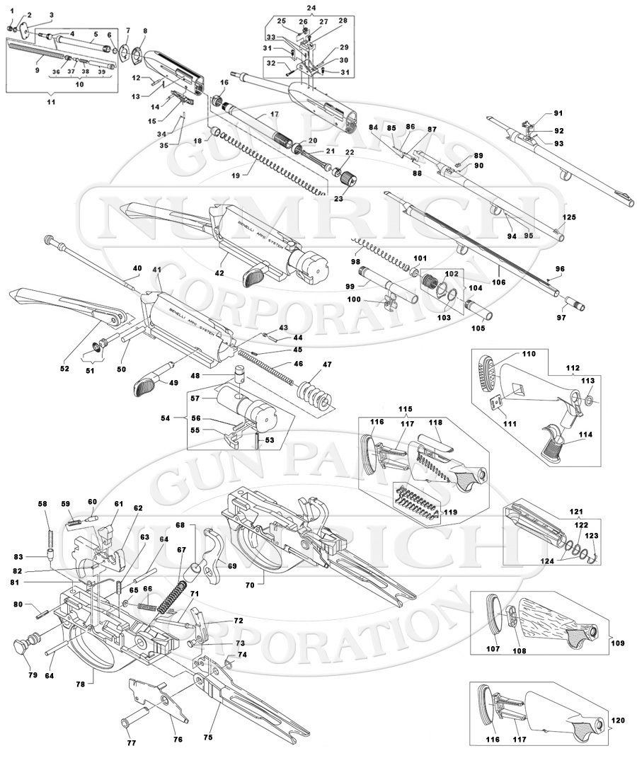 Schematic Benelli M4