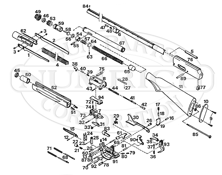 Diagram Carbine M2 Parts