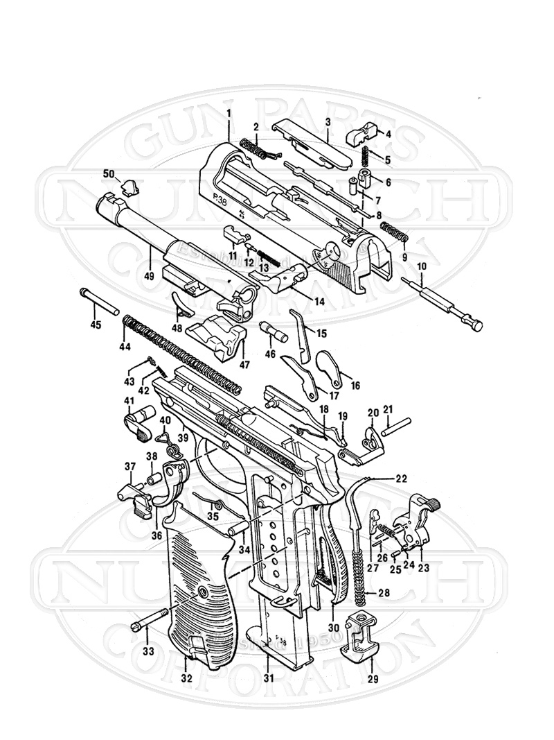 Walther P38 Parts Diagram