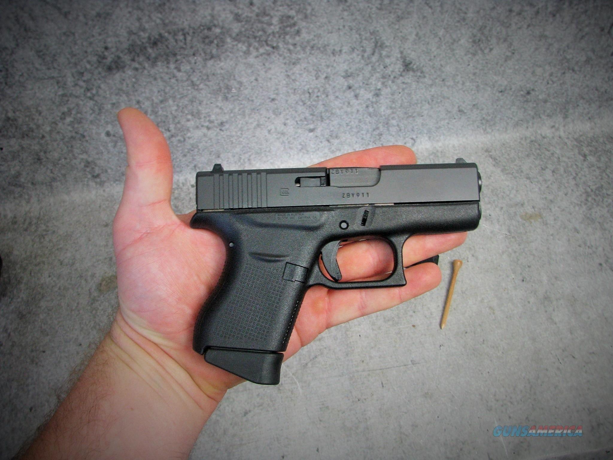 Glock 43 Single Stack Pistol PI4350201, 9mm, Sy... for sale