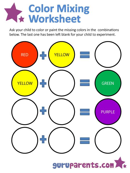Colors Spanish Worksheet