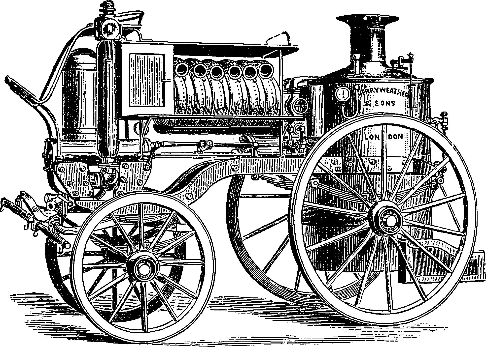 Fig 14 merryweather's steam fire engine