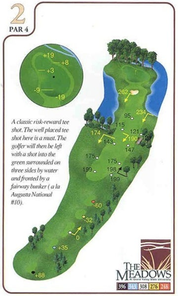 Yardage Book The Meadows Grand Valley State University