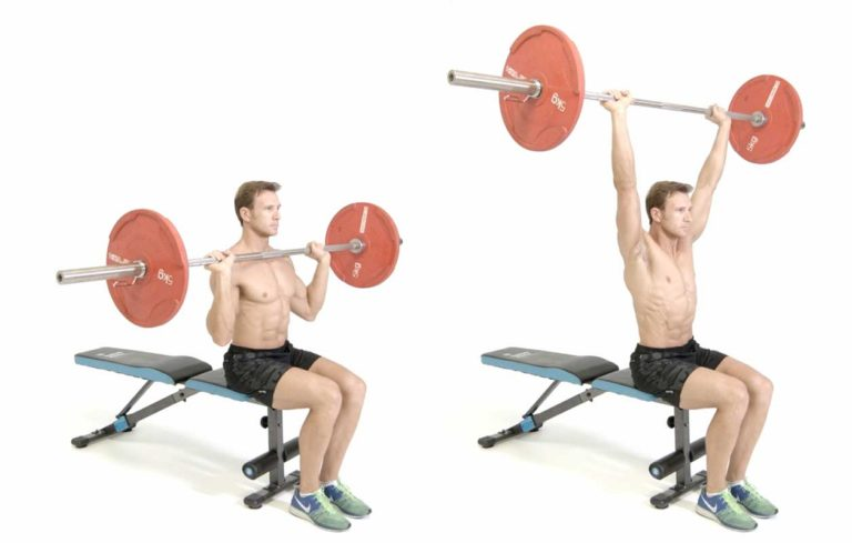 barbell military shoulder press - HD 1256×800