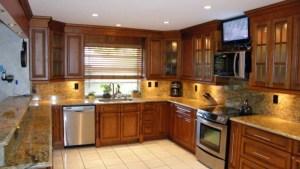 Glazed Maple Wood Kitchen Bathroom Cabinets