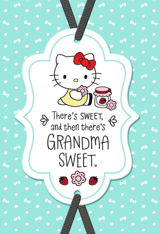 Hello Kitty 174 Sweet Birthday Card For Grandma Greeting