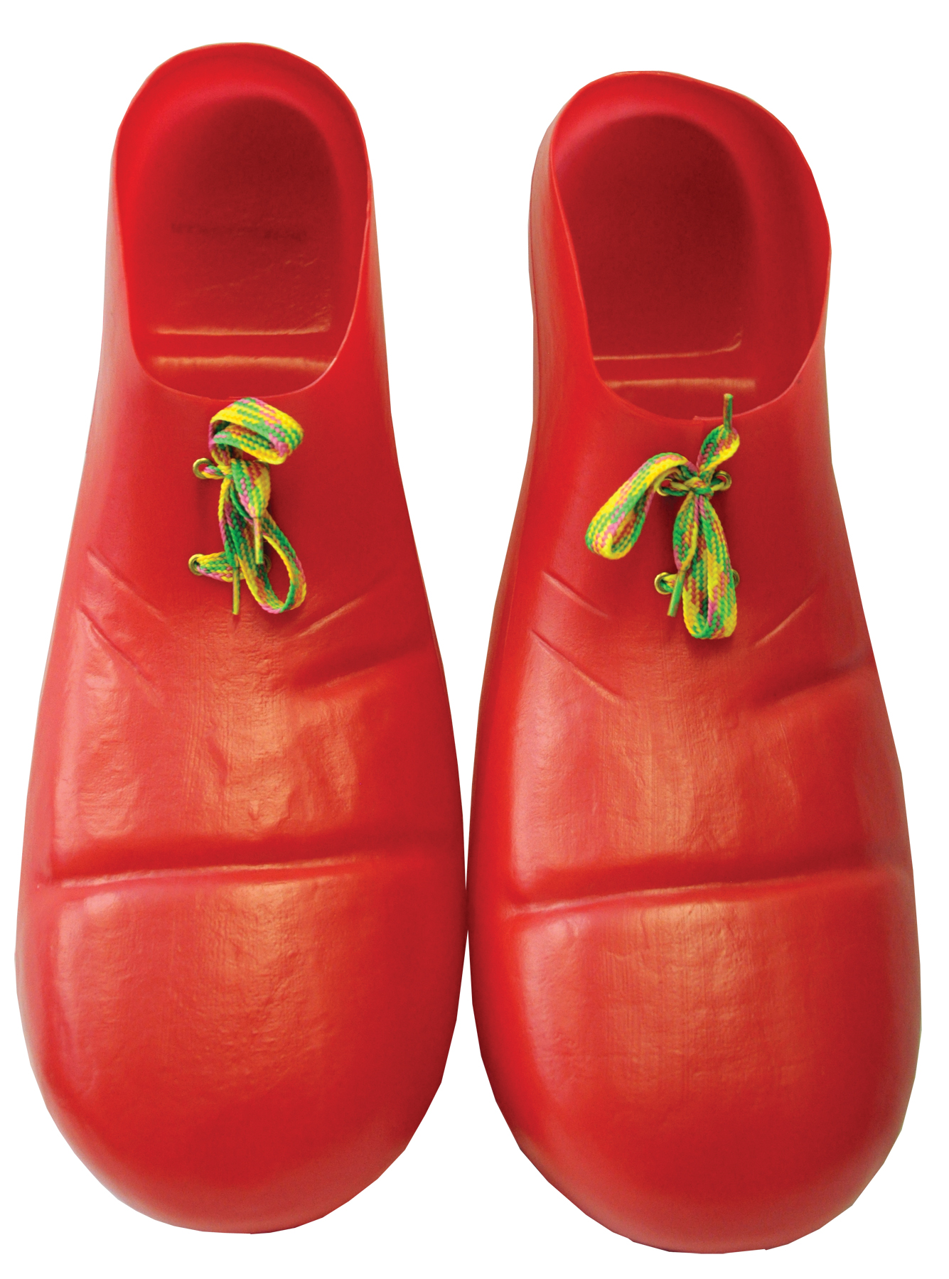 Red Plastic Adult Clown Shoes