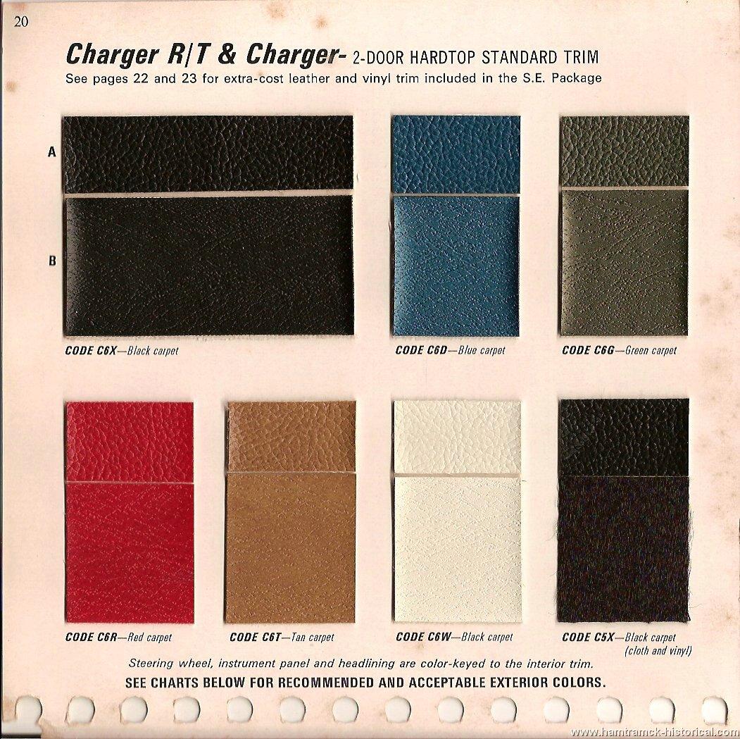 1968 Dodge Dart Paint Colors