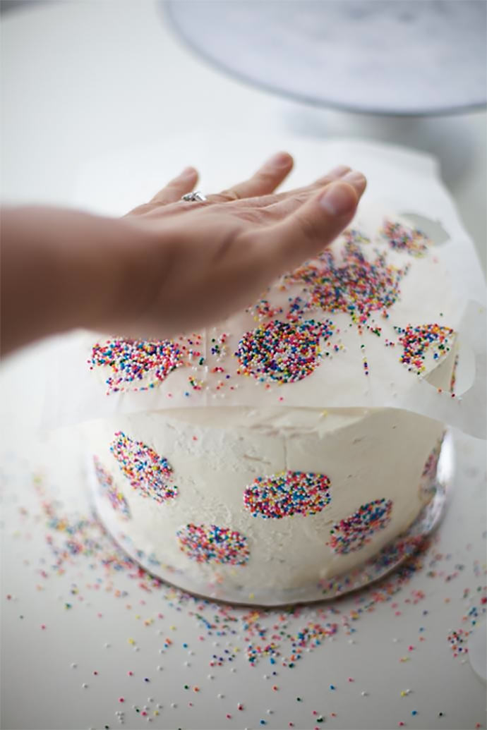 Polka Dot Inside And Out Birthday Cake ⋆ Handmade Charlotte