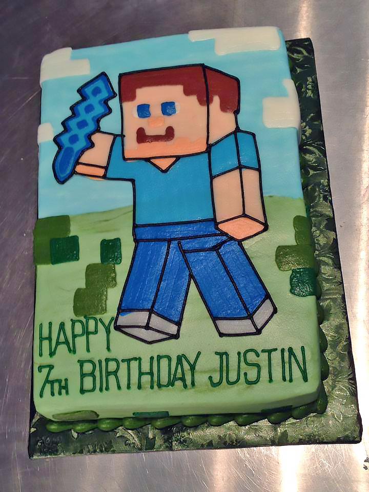 Kids Minecraft Birthday Cakes Hands On Design Cakes
