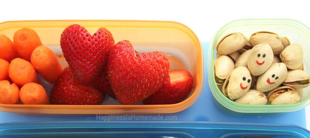 Heart Shaped Strawberries and Bento Lunch